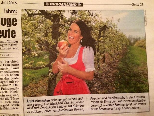 Bericht in der Krone Zeitung ueber landwirtschaftlichen Betrieb Kollar-Lackner